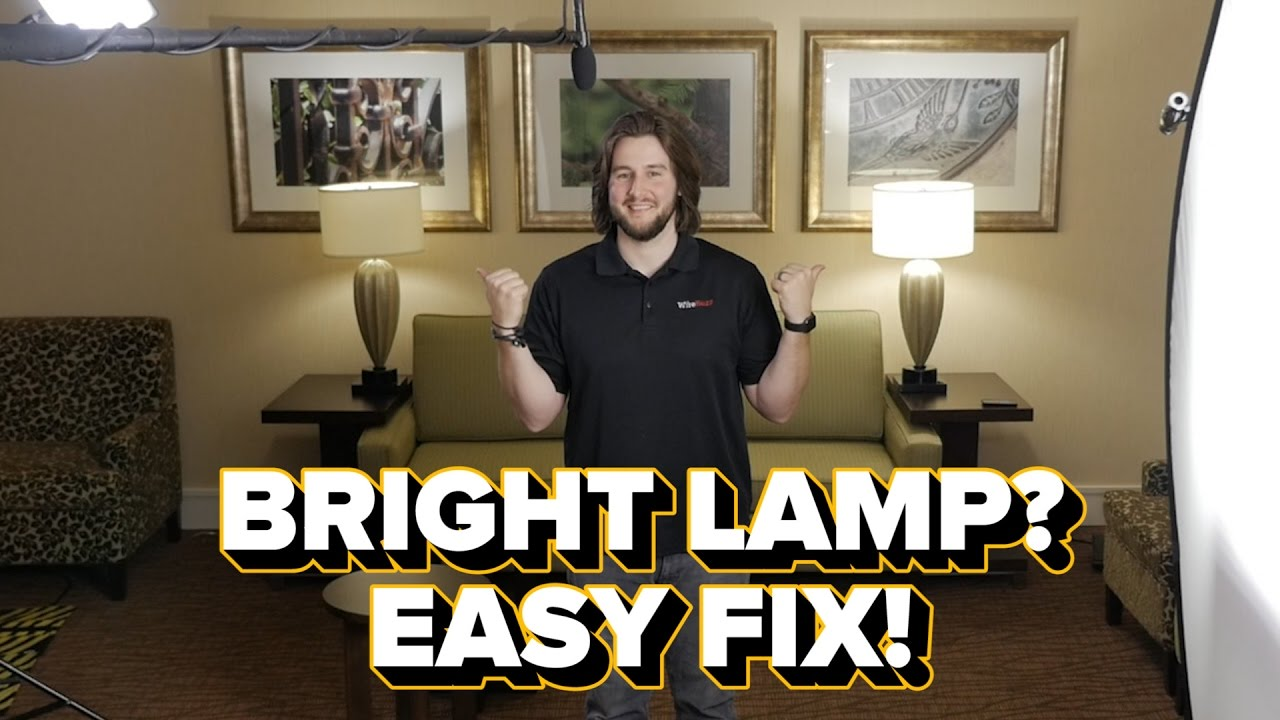 Easy Fix For Overexposed Lamps
