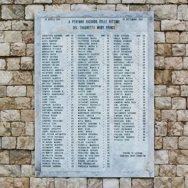 Plaque in memory of the victims of the Moby Prince disaster, Porto Mediceo, Livorno