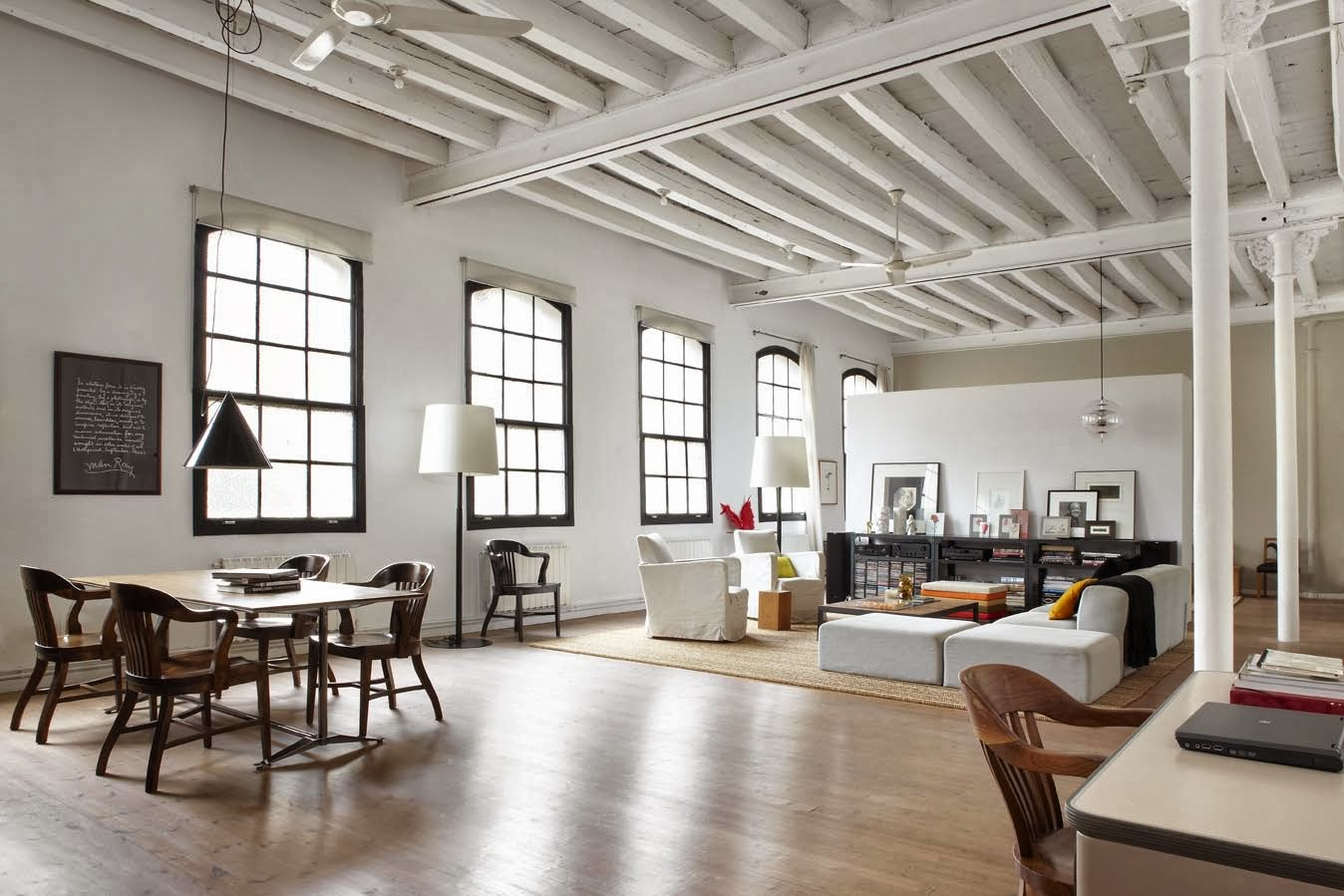 arredando style old factory gets a new life as bright modern loft. Black Bedroom Furniture Sets. Home Design Ideas