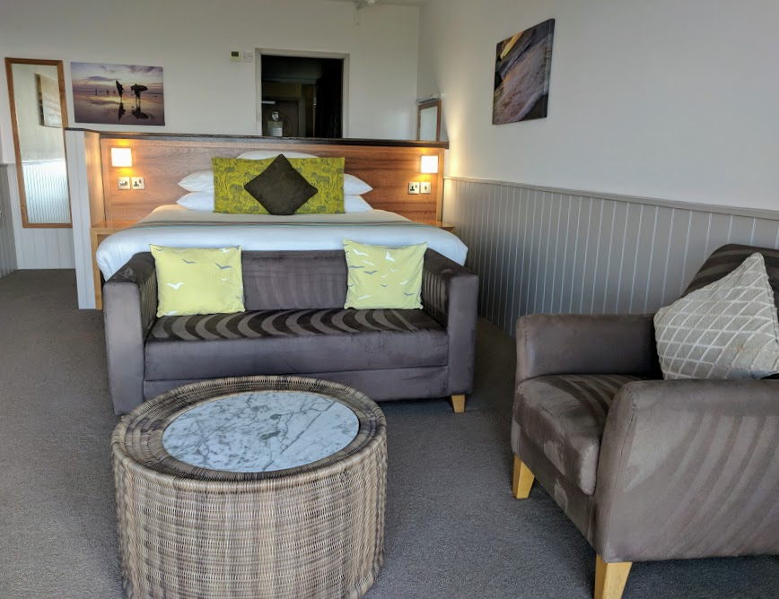 The Sands Resort Cornwall Review | A Family Hotel with Kids Club near Newquay  - contemporary sea view bedroom