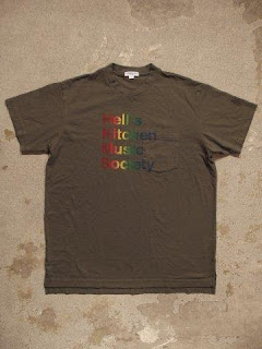 """Engineered Garments """"Exclusive T-Shirt / Hell's Kitchen Music Society Print"""""""