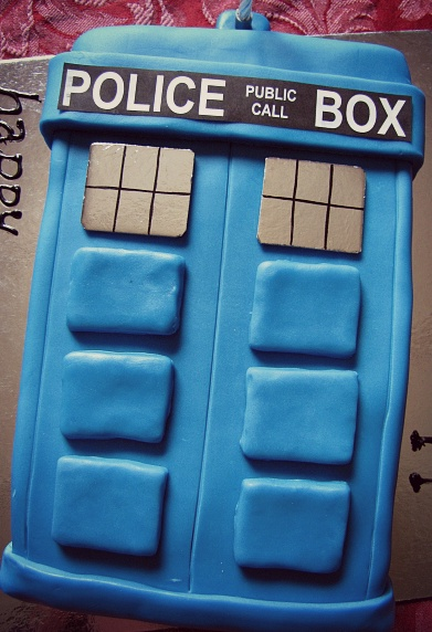 Terrific Doctor Who Tardis Cake Paisleyjade Funny Birthday Cards Online Inifodamsfinfo