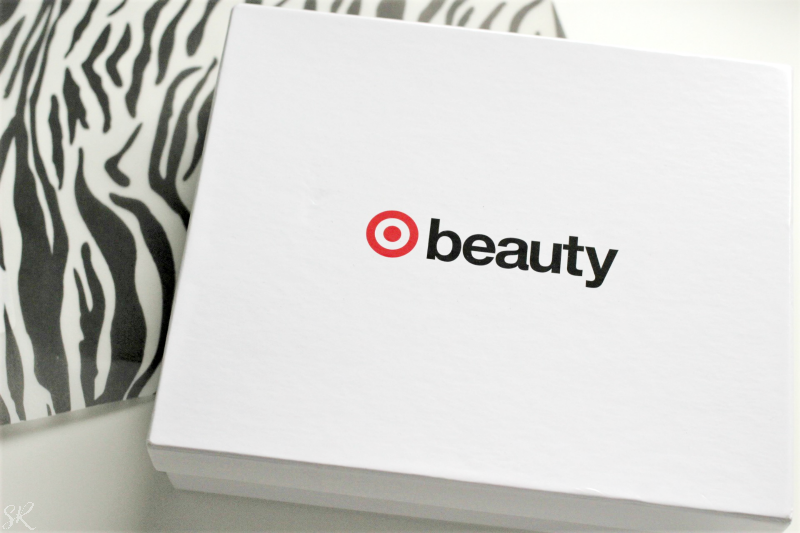 a white target beauty box on a white table