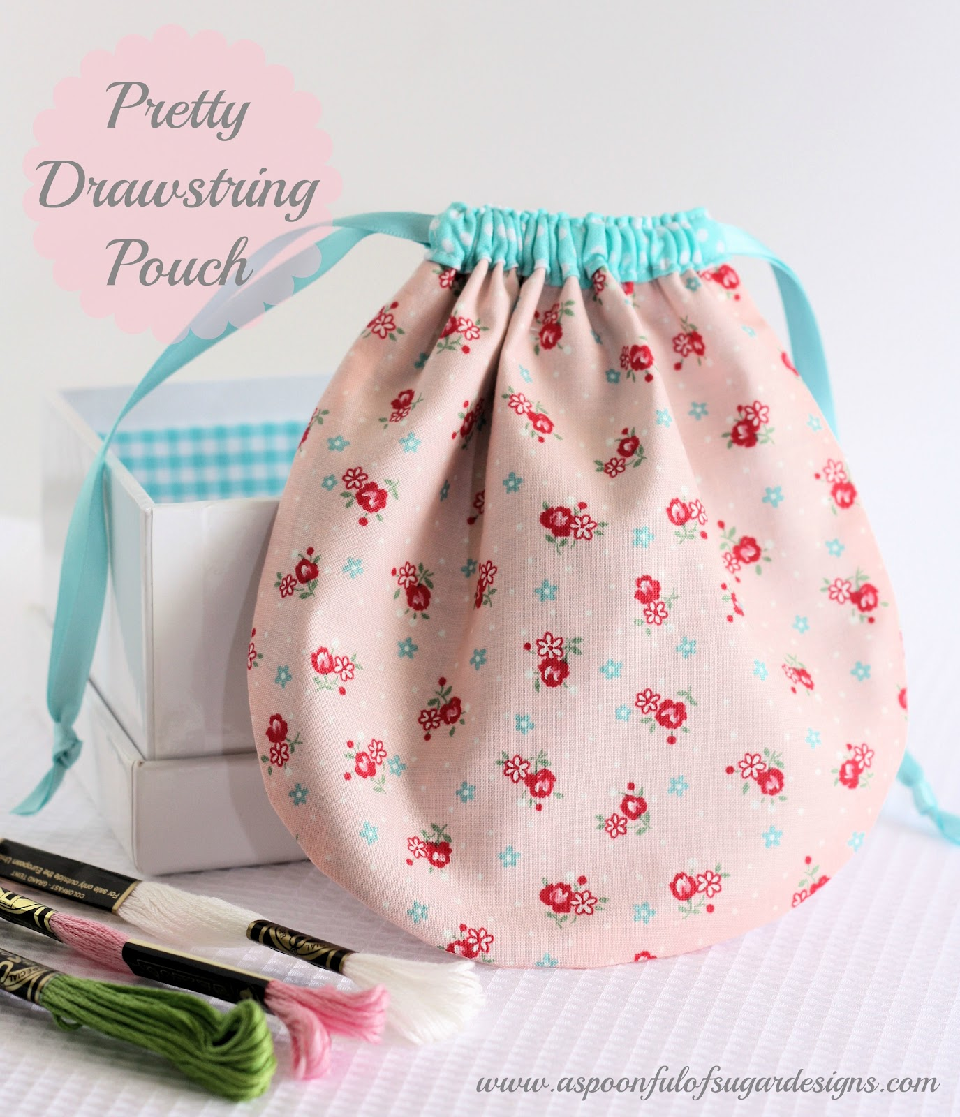 Pretty Drawstring Pouch Tutorial A Spoonful Of Sugar
