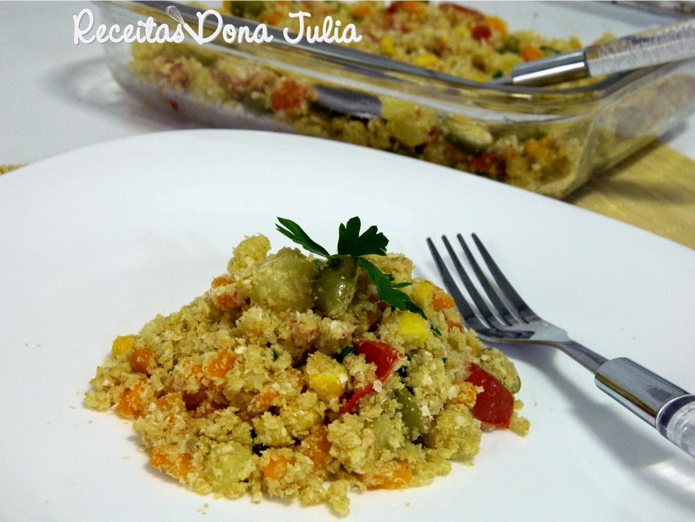 Viradinho de quinoa com legumes