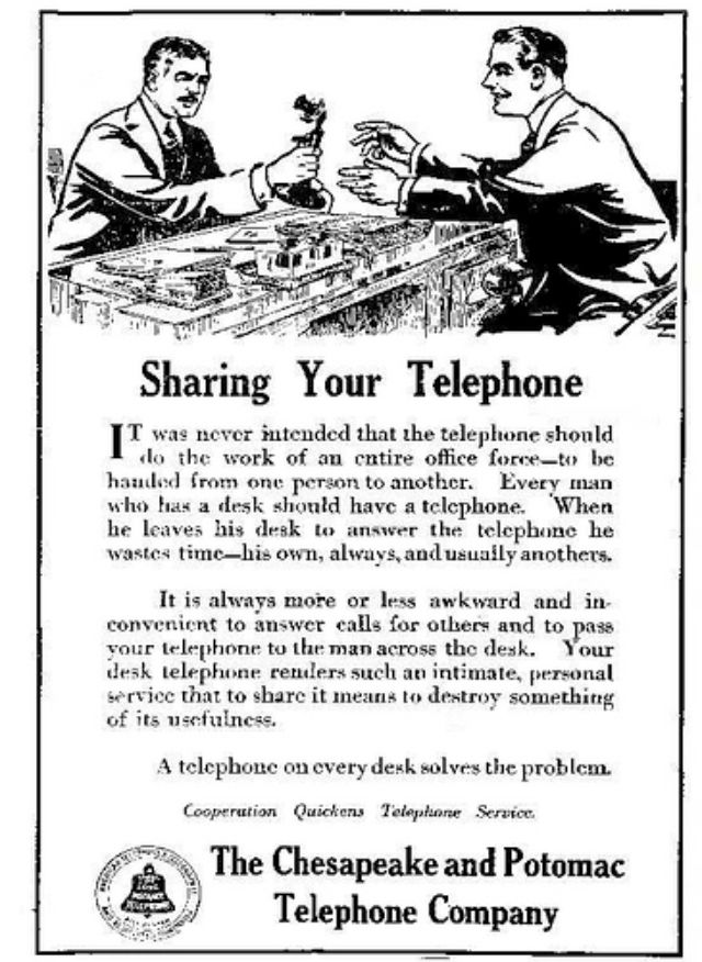 instructions on how to use a telephone from 1917