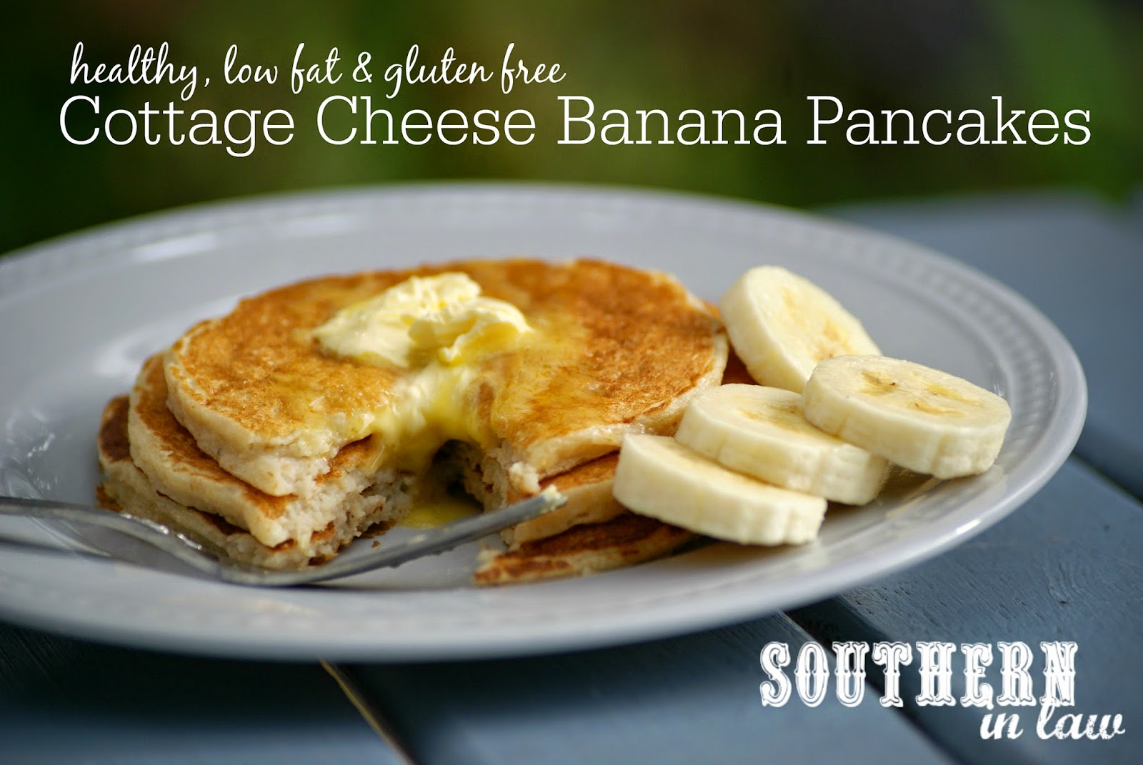 Low Fat Banana Cottage Cheese Pancakes Recipe - healthy thick and fluffy pancake recipe - gluten free, low fat, high protein, sugar free, clean eating friendly