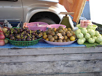 khao lak land discovery, khao lak ,bang niang, markt, market, thai, klld, fruits, mangosteen, guava, mandarin