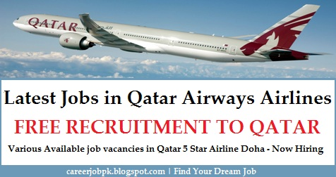 Latest jobs in Qatar Airways Airlines