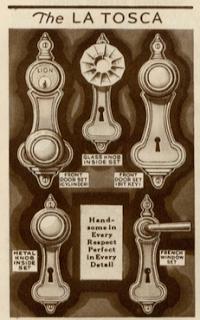 sears vintage door hardware la tosca