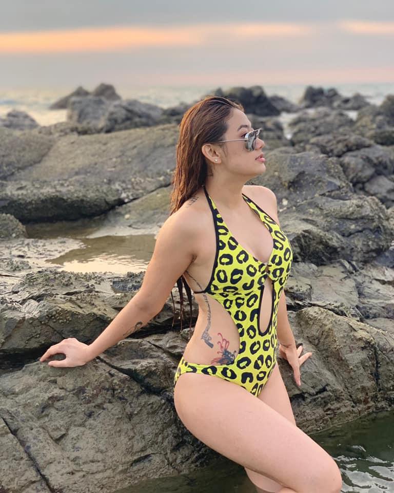 Thinzar Wint Kyaw In Chaung Thar Beach