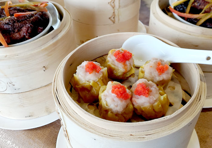 Siu Mai topped with Capelin Roe