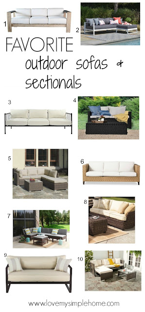 stylish outdoor patio sofas-sectionals