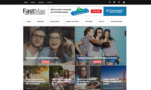 FastMag Responsive SEO Template Magazine