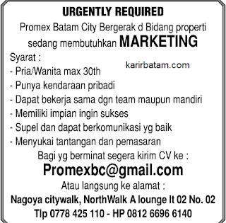 Lowongan kerja PT. Promex BC Indonesia