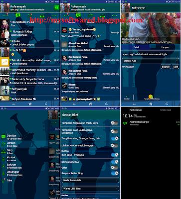 BBM Mod Transparan v2.5.0.32 Update Musik (Android Messenger)