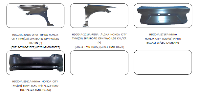Bodypart Honda City 2008