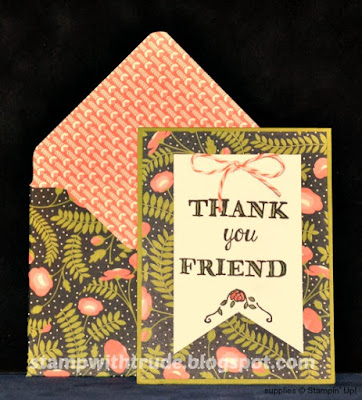 Petite note card, envelope punch board, Helping Me Grow, Stampin' Up!, Stamp with Trude, Tuesday Tutoria