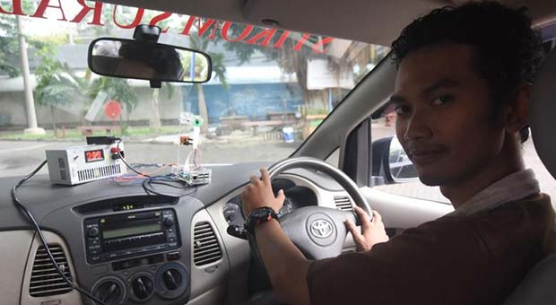 Mahasiswa di Surabaya Ciptakan Alat Pendeteksi Kantuk Saat Mengemudi