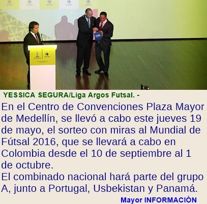 PORTUGAL, UZBEKISTÁN Y PANAMÁ, LOS RIVALES DE COLOMBIA EN EL MUNDIAL DE FÚTSAL