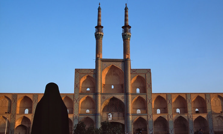 The Amir Chakhmagh mosque in Yazd, Iran