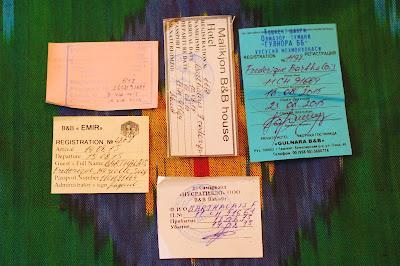 papiers d'enregistrement Le Chameau Bleu - Voyage en Ouzbékistan  Conseil