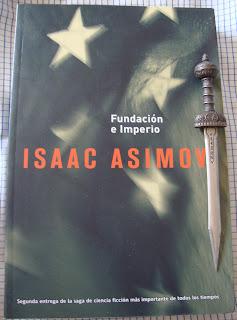Portada del libro Fundación e Imperio, de Isaac Asimov