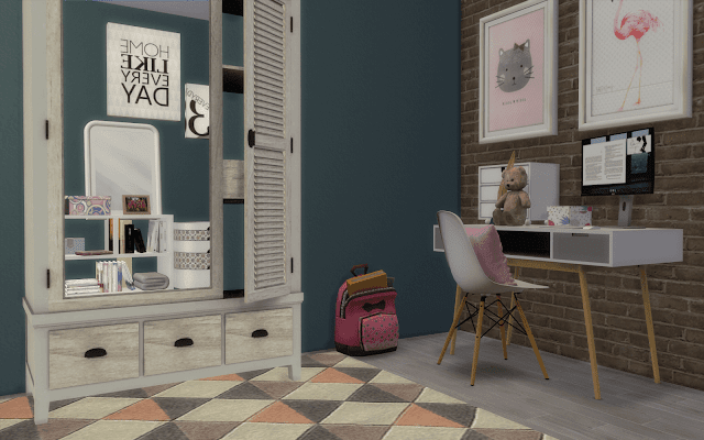 teenager bedroom Sims 4