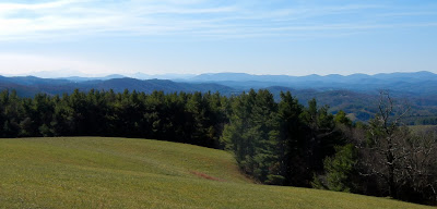 The views off of the Blue Ridge Parkway