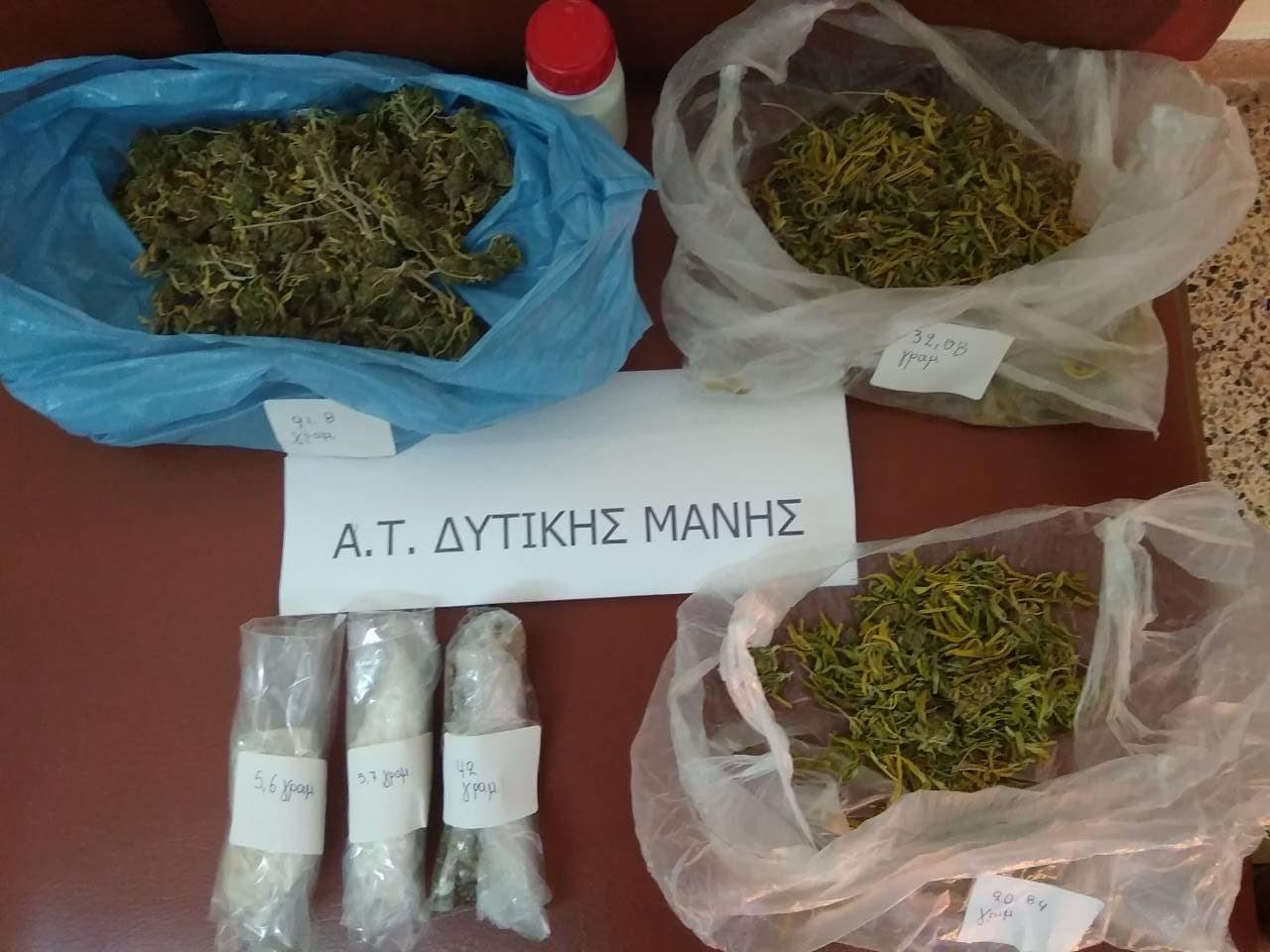 Σύλληψη 52χρονου για ναρκωτικά στη Μεσσηνία