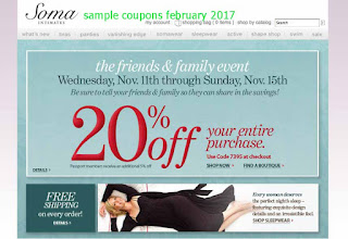 Soma Intimates coupons february 2017