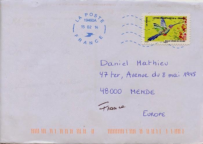 lettre postale La Boîte aux Lettres du Monde: Lettre de Martinique lettre postale