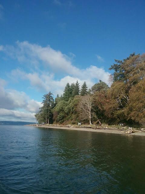 The shore of Blake Island.