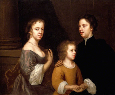Self Portrait of Mary Beale with Her Husband and Son (1663-64), Mary Beale