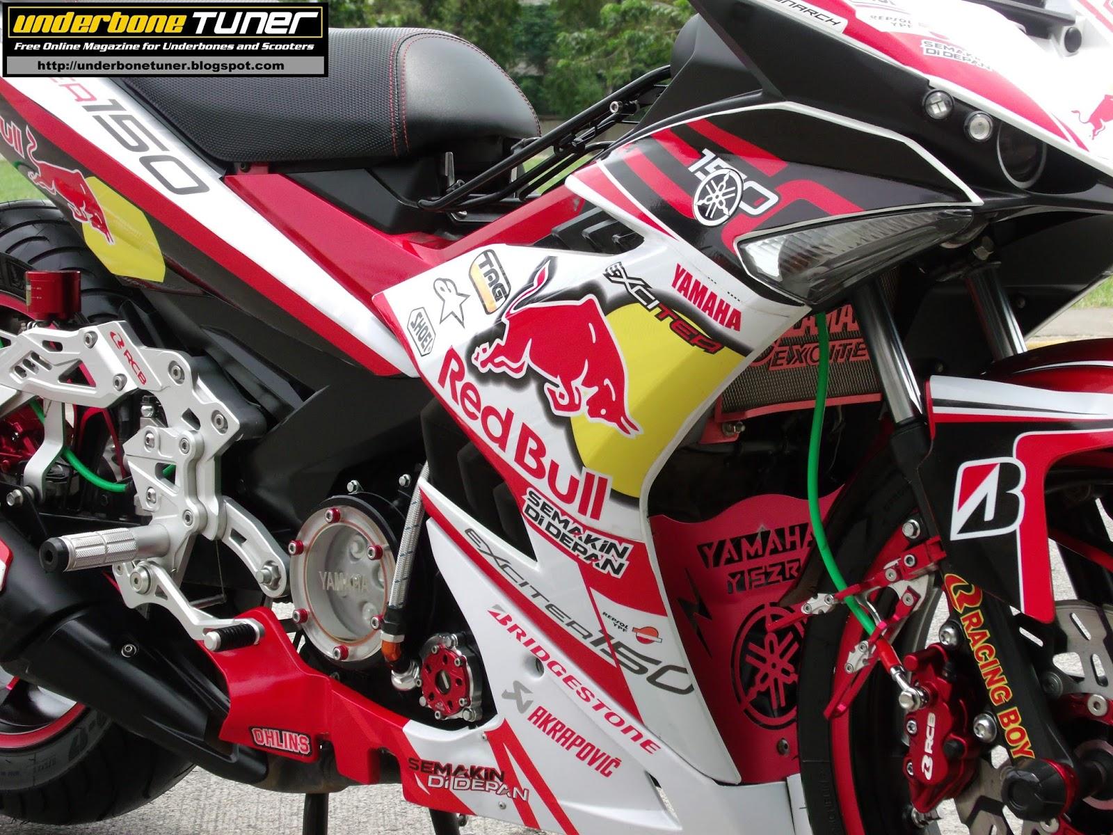 Sniper 150 Decals >> underbone tuner: Red Bull Moto GP Insipired Yamaha Sniper 150 MXi from Bantigue Bantayan Island Cebu