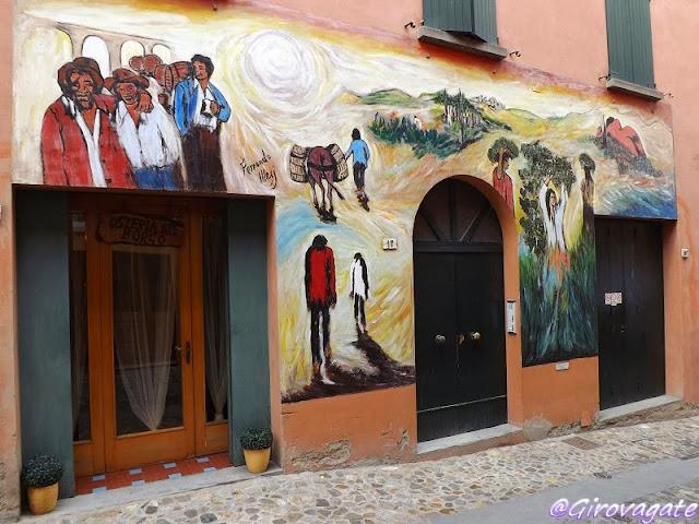 dozza paese murales