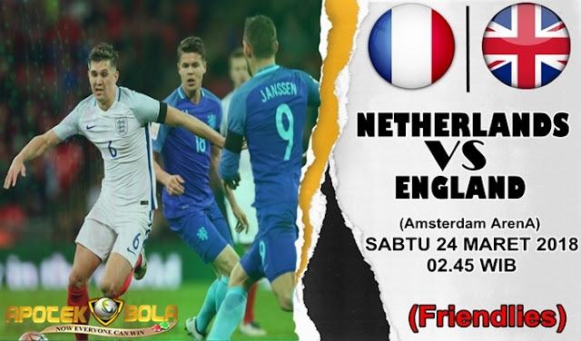 Prediksi Belanda vs Inggris 24 Maret 2018