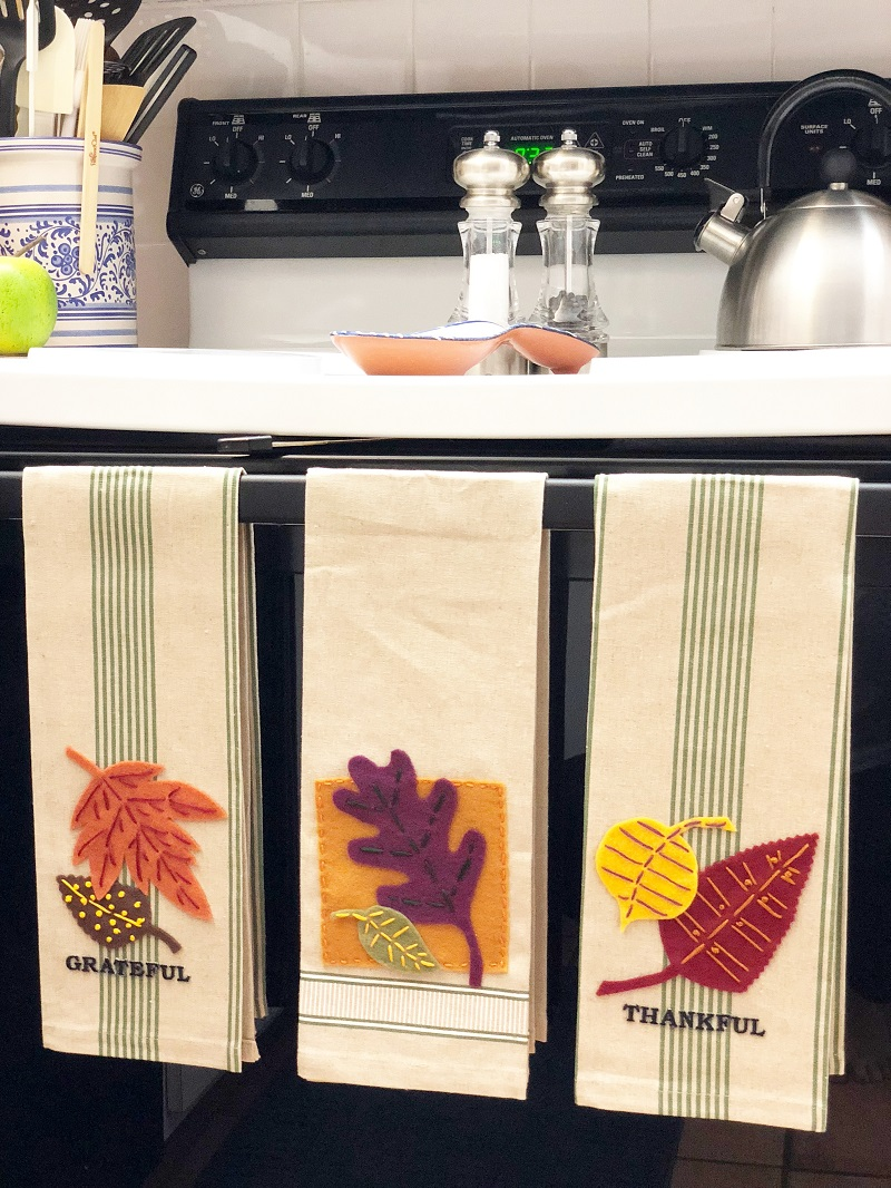 Creating With Joy Grateful And Thankful Kitchen Towels