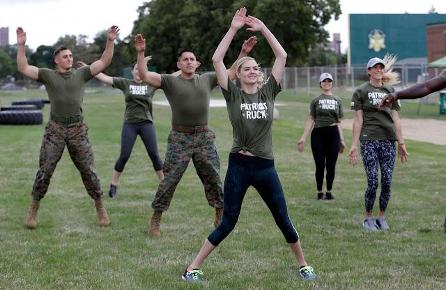 Kate Upton – Marine Workout in Detroit