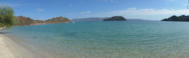 Panorama of Coyote Beach, BCS. MX