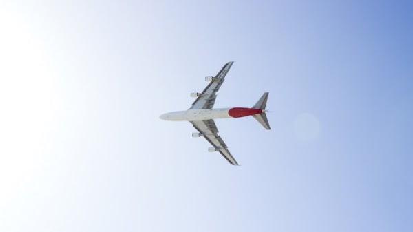 Qantas Airplane above Sydney