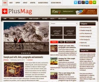 Plus Mag - Responsive 3 Column Blogger Template