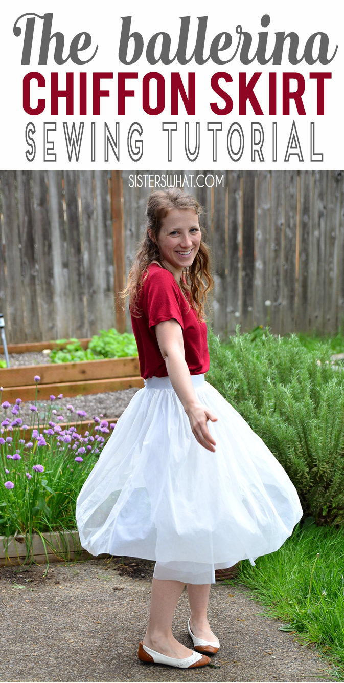 DIY ballerina tulle skirt with an elastic band! An easy skirt with an elastic band.