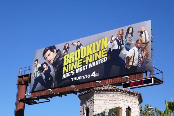 Brooklyn Nine Nine season 6 billboard