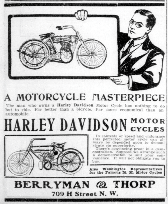 Harley-Davidson advertising May 23, 1909