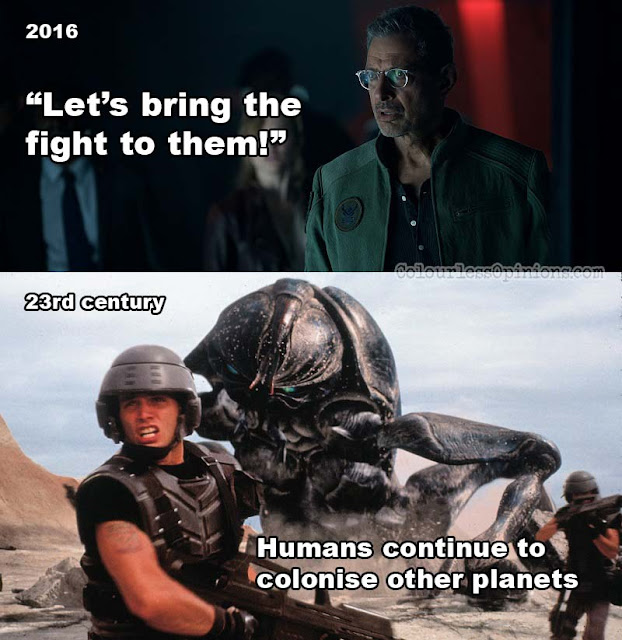 independence day resurgence meme starship troopers