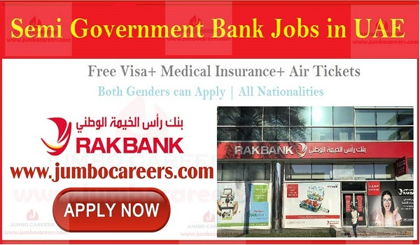 Available UAE jobs with salary and benefits, National Bank of Ras Al Khaimah jobs,