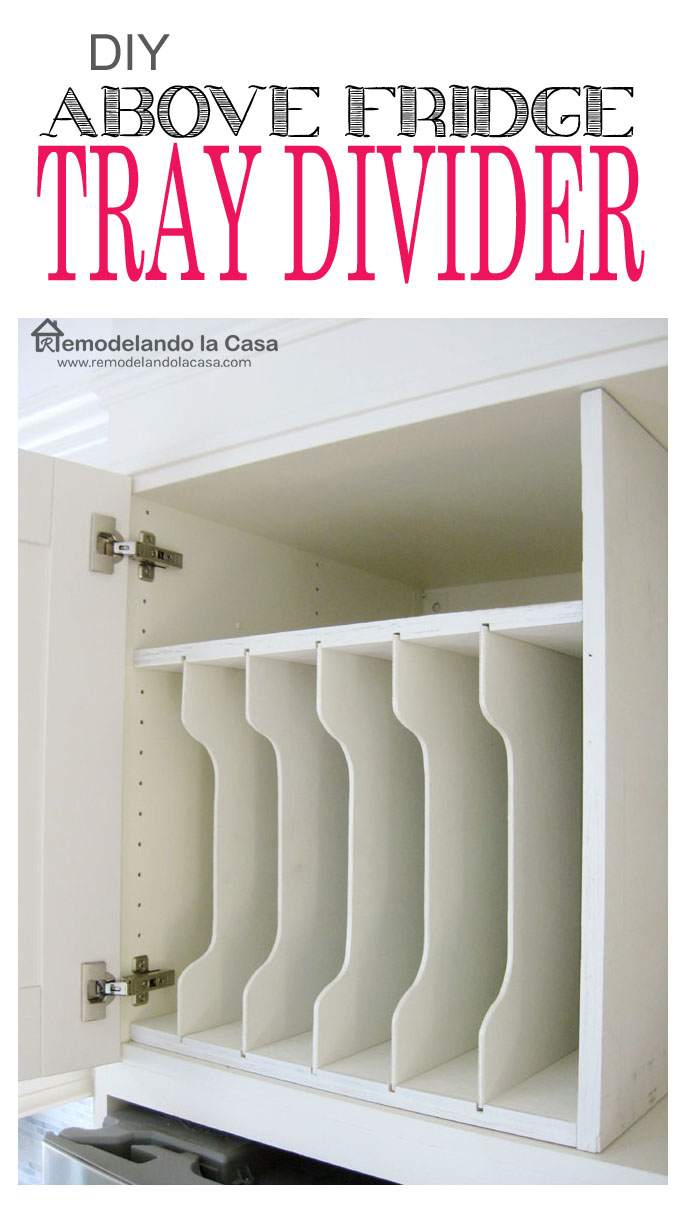 how to make a tray divider for your kitchen