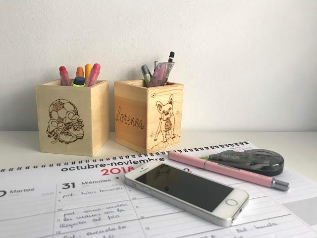 Caja para lapices personalizada