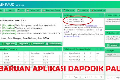Update Aplikasi Dapodik Paud 3.3.1